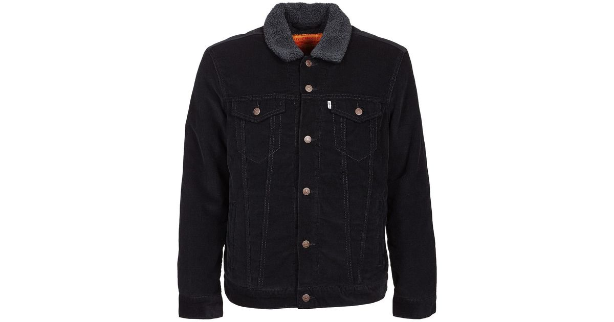 Levi S Levis Good Sherpa Trucker Men S Denim Jacket In Black In