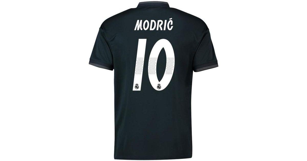 buy popular 77268 021b4 Adidas 2018-19 Real Madrid Away Shirt (modric 10) Women's T Shirt In Black