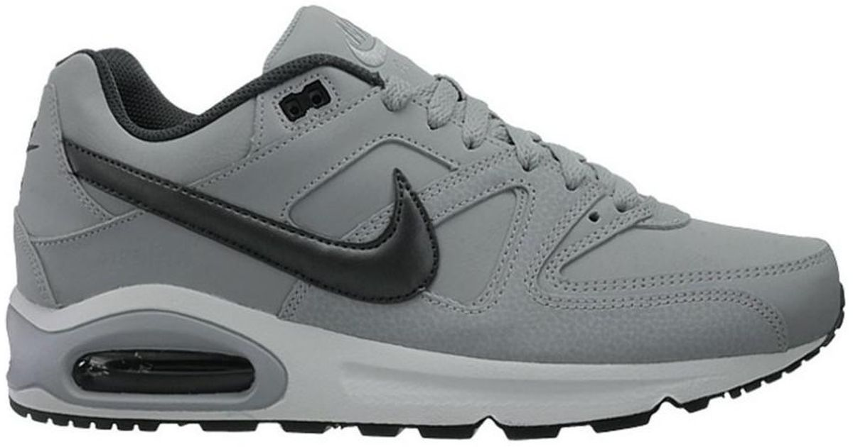 brand new e39c0 e685d Nike Air Max Command Leather Men s Shoes (trainers) In Grey in Gray for Men  - Lyst