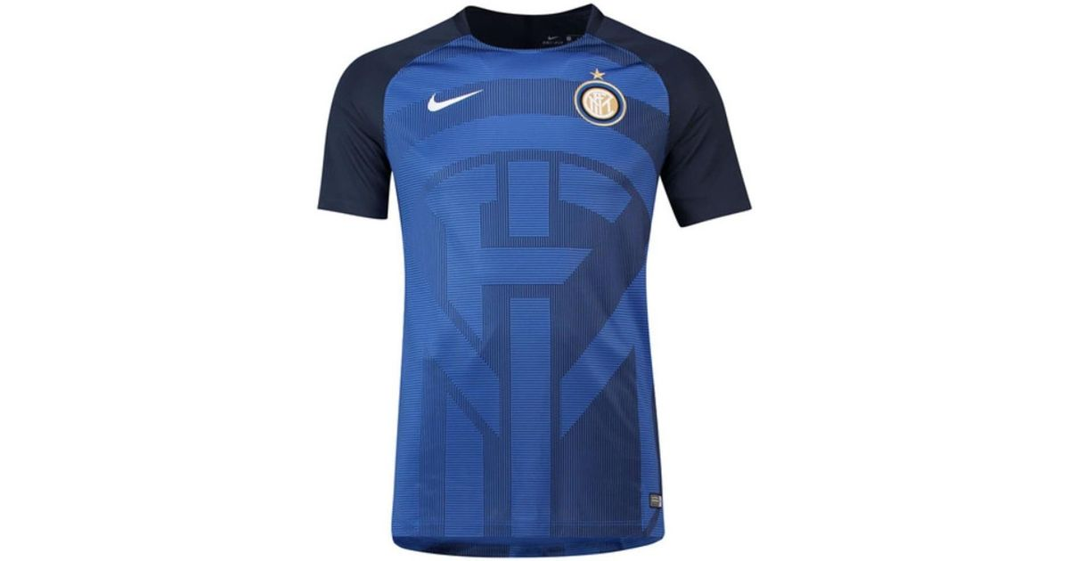 brand new 214de 667a2 Nike 2018-2019 Inter Milan Pre-match Training Shirt Men's T Shirt In Blue  for men