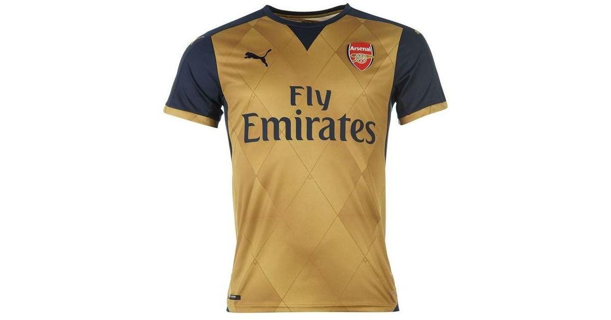 timeless design 589ad c69e1 PUMA 2015-16 Arsenal Away Shirt (s. Cazorla 19) - Kids Men's T Shirt In  Blue for men