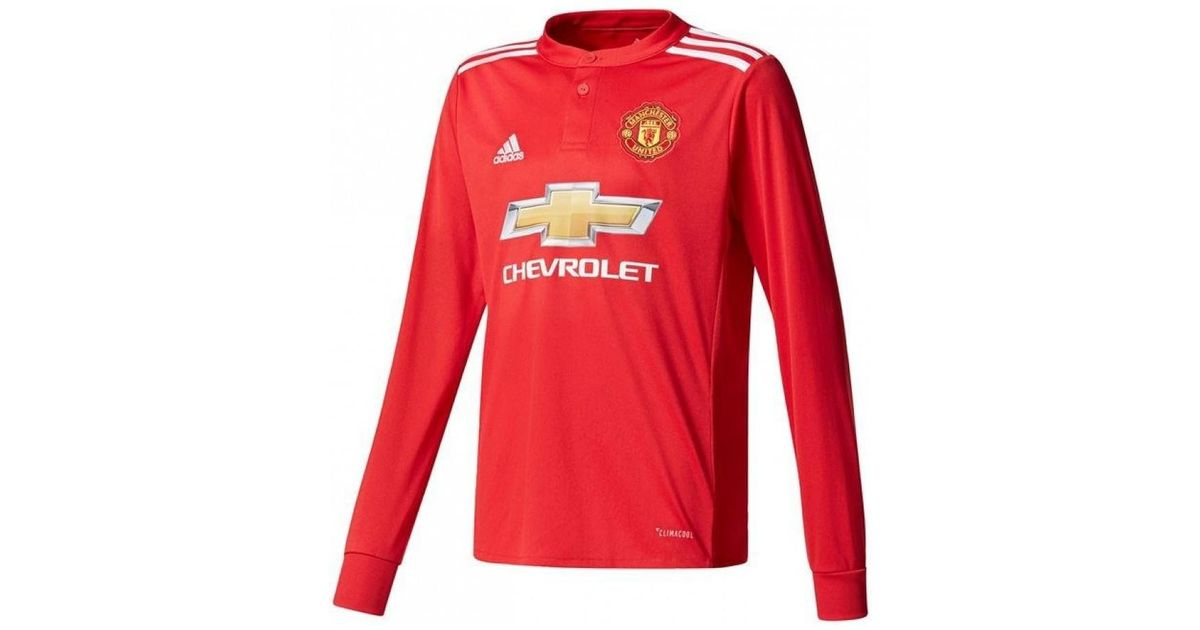info for 2a853 0160b Adidas 2017-2018 Man United Long Sleeve Home Shirt (Giggs 11) Men's In Red  for men