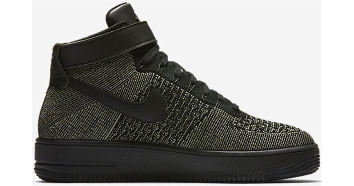 competitive price 7a69e 9e4ca Nike Air Force 1 Flyknit Men's Shoes (high-top Trainers) In Green for men