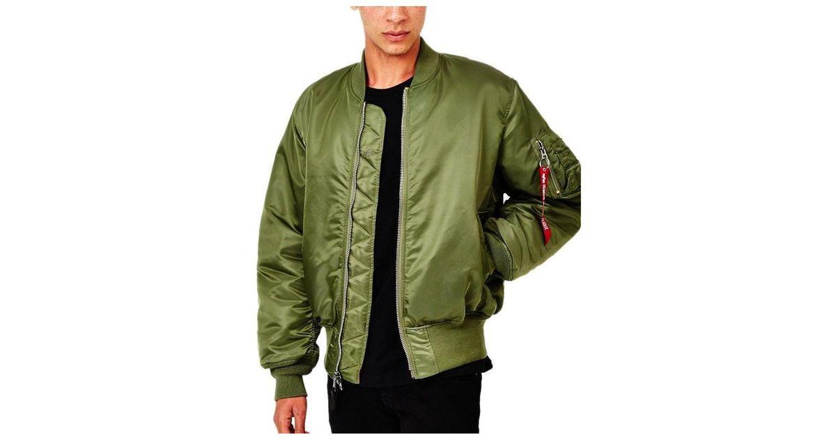 c28809b64 Alpha Industries Classic Ma1 Vintage Fit Bomber Jacket Sage Green Men's  Jacket In Green for men