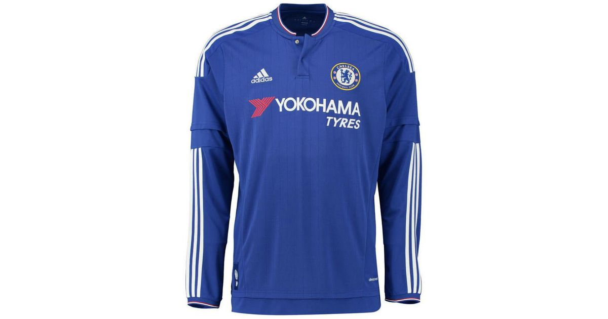 new product 5c5a1 d35dd Adidas - 2015-2016 Chelsea Home Long Sleeve Shirt (pedro 17) Women's In Red  for Men - Lyst