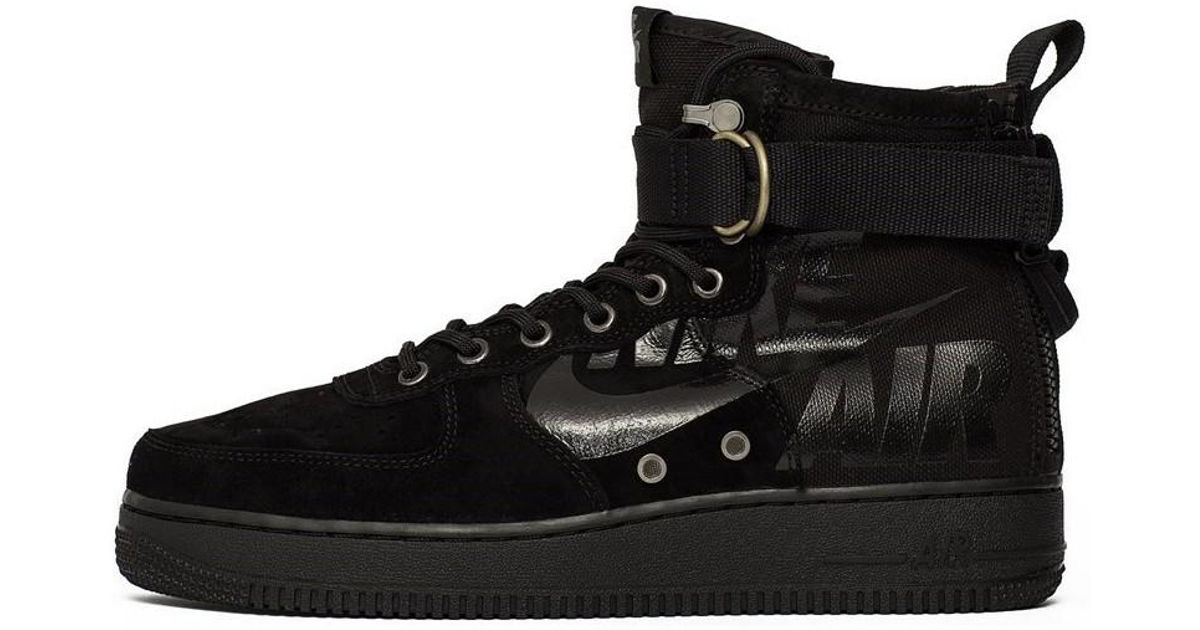 Nike Sf Air Force 1 Mid Men s Shoes (high-top Trainers) In Black in Black  for Men - Lyst 7018fb474