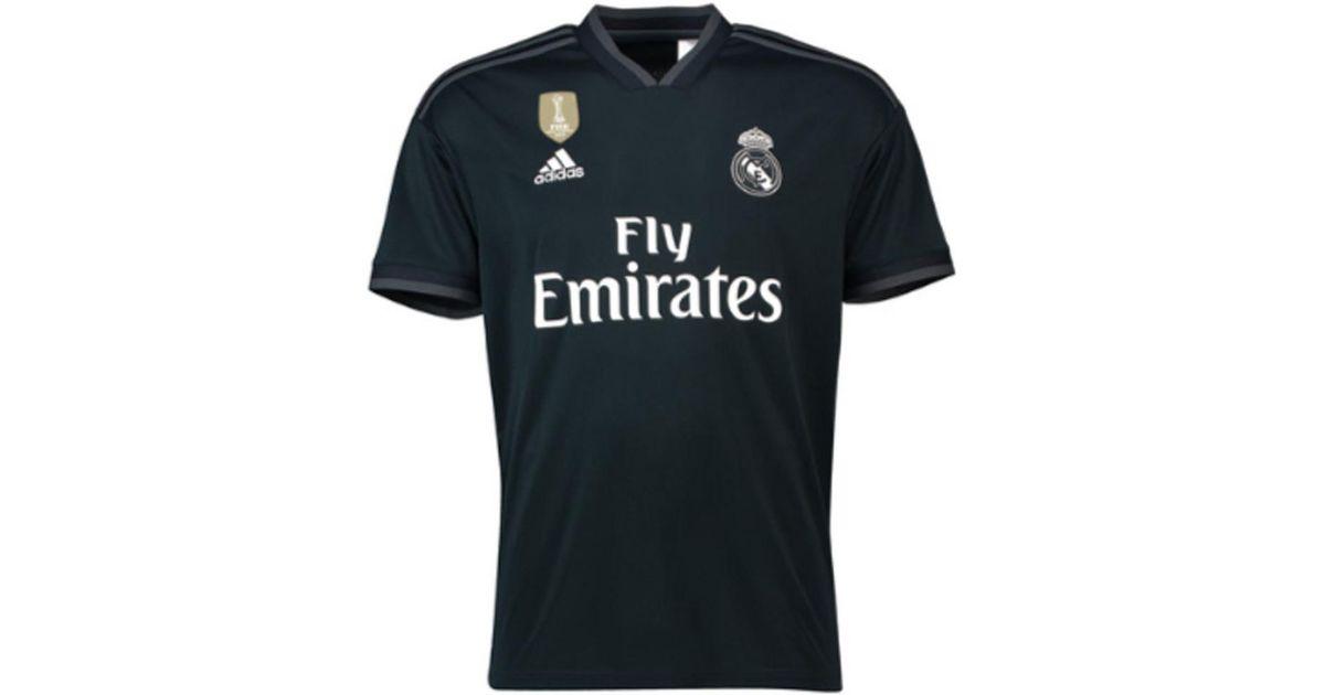 ee45833c7659 Adidas 2018-2019 Real Madrid Away Football Shirt Men's T Shirt In Black for  men