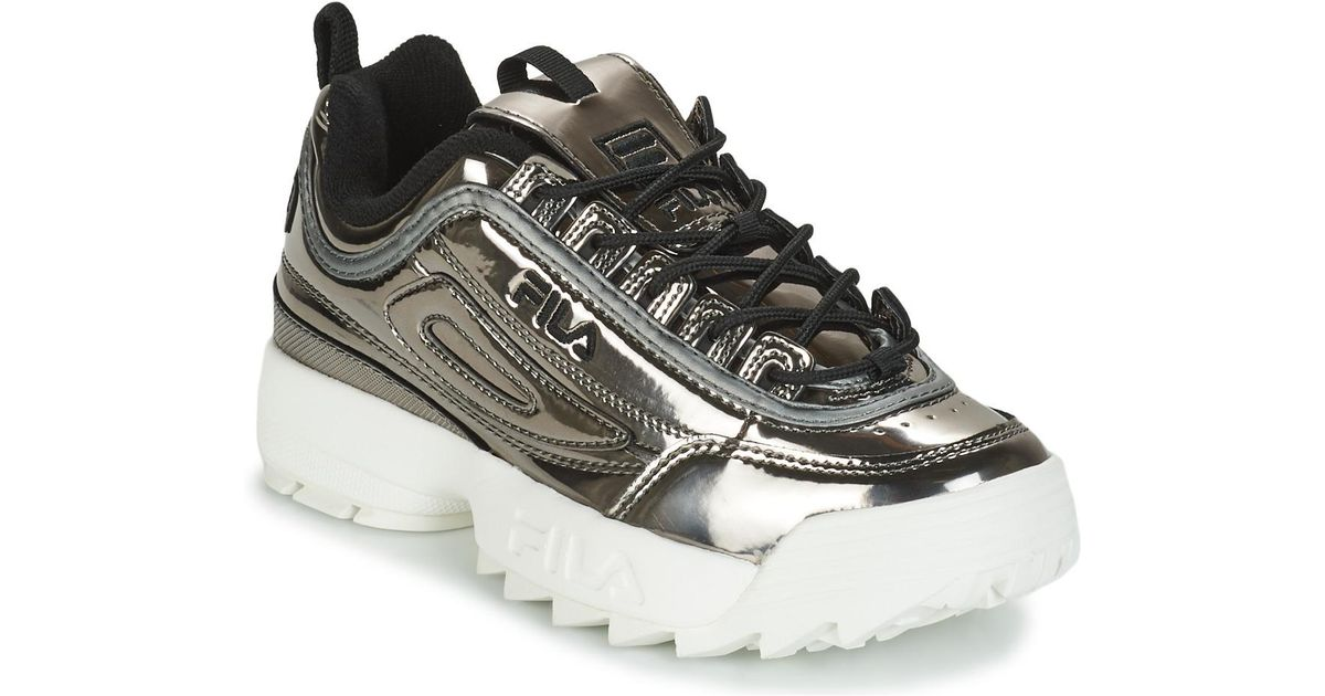 726d06be Fila Metallic Disruptor M Low Wmn Women's Shoes (trainers) In Silver