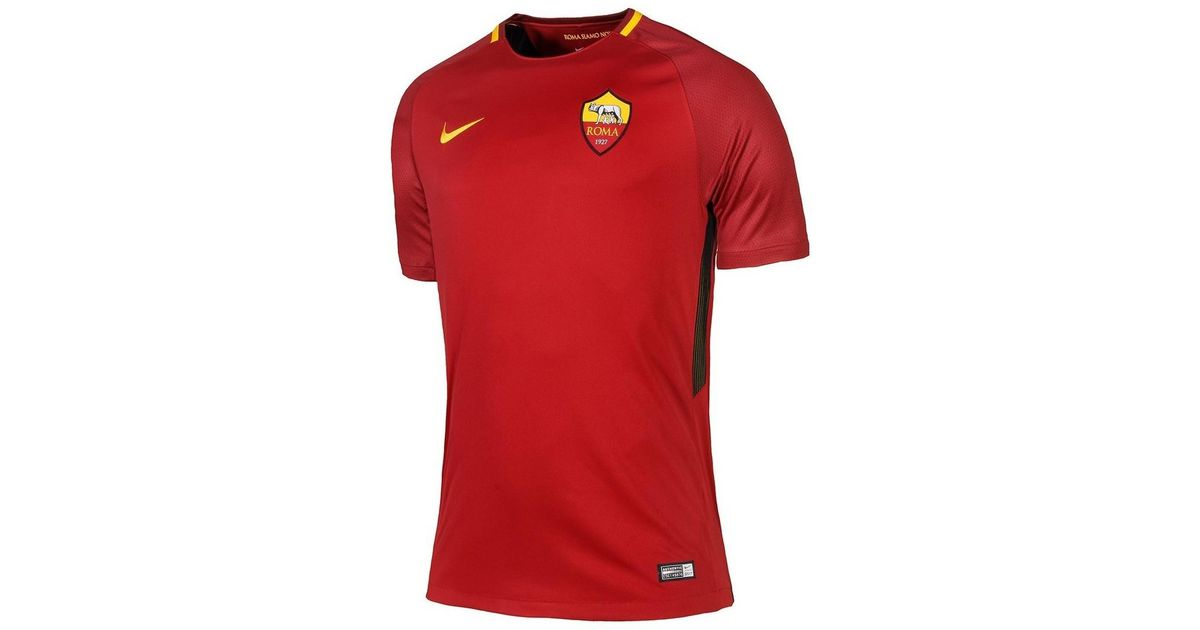 separation shoes f2369 6198c Nike - Red 2017-18 Roma Home Shirt (m Salah 11) Women's T Shirt In Other -  Lyst