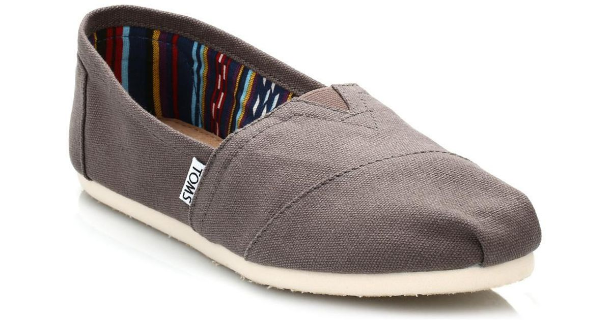 531eaa8925f Toms Womens Ash Canvas Classic Espadrilles Women s Slip-ons (shoes) In  Brown in Brown - Lyst