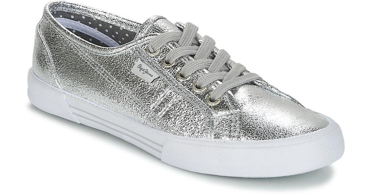 Shoestrainers Pepe Jeans Aberlady Metallic Met wOXiPkZuT
