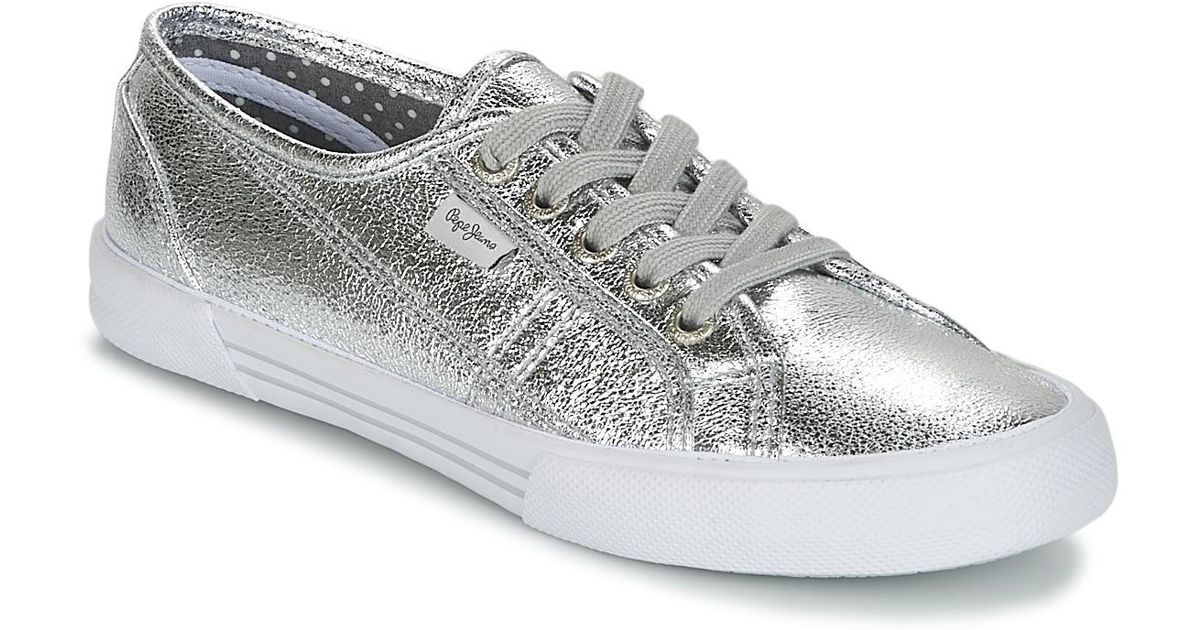 Jeans Aberlady Shoestrainers Pepe Met Metallic WoeQCxdrB