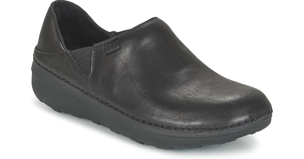 5daa8288a6c Fitflop Superloafer (leather) Women s Loafers   Casual Shoes In Black in  Black - Lyst