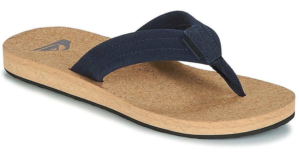 520796f678c6 Quiksilver Carver Cork M Sndl Xbcb Men s Flip Flops   Sandals (shoes) In  Blue in Blue for Men - Lyst