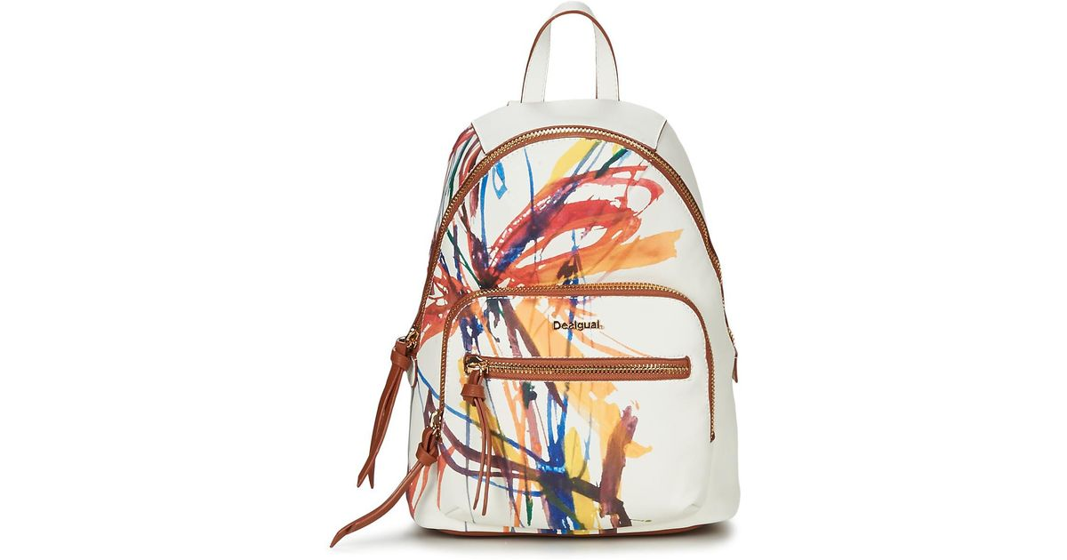 hot sale online hot products low price Desigual Acid Ink Lima Women's Backpack In White