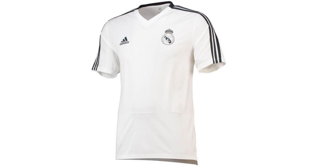 3be87521a76 adidas Real Madrid Training Jersey in White for Men - Save 8% - Lyst