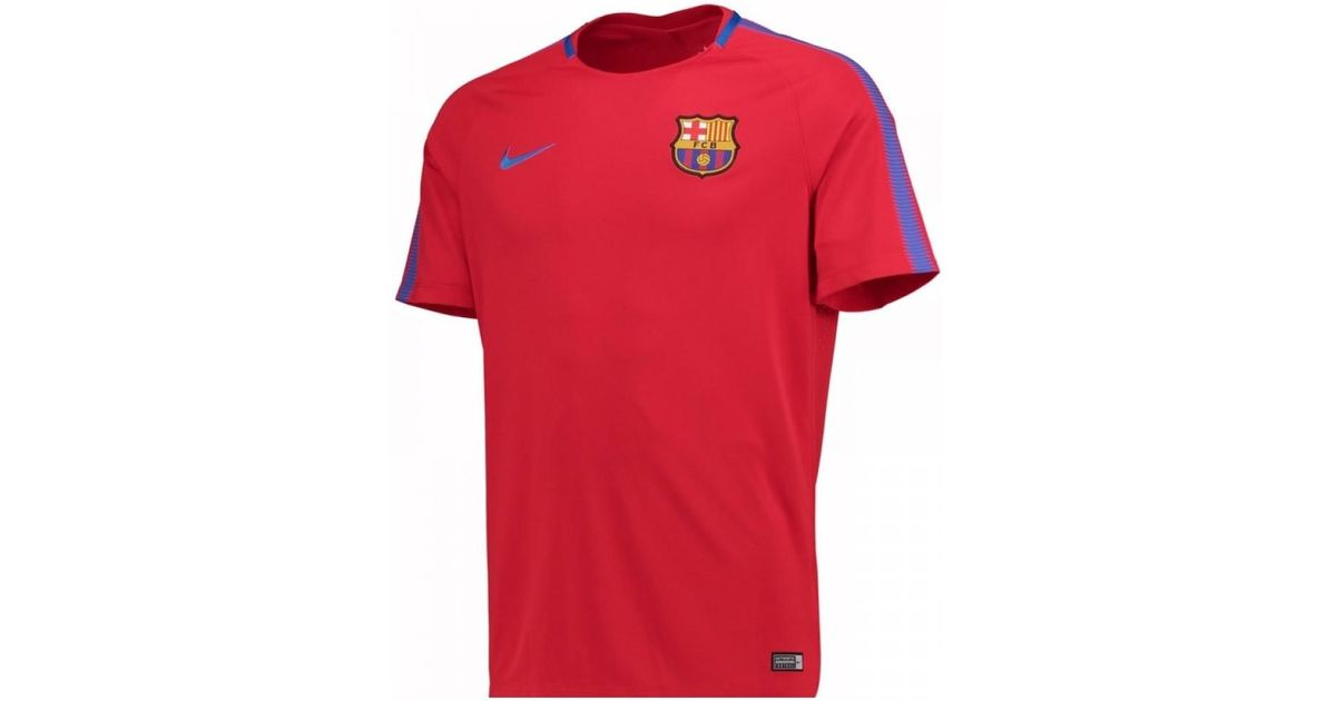 size 40 85205 a6ad2 Nike - 2017-2018 Barcelona Training Shirt - Kids Men's T Shirt In Red for  Men - Lyst
