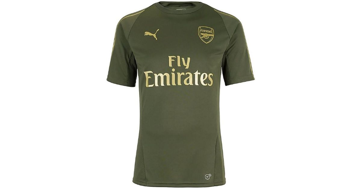 separation shoes 2eb5f 2d432 PUMA 2018-2019 Arsenal Training Shirt (forest Night) Men's T Shirt In Green  for men