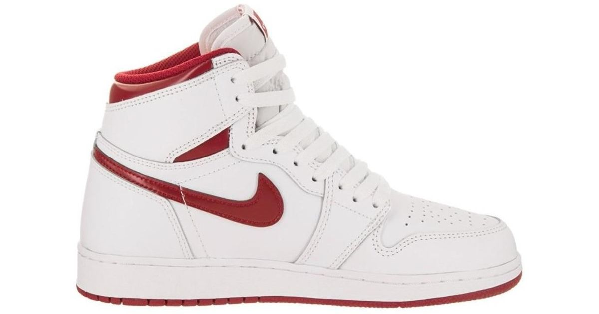 Nike Retro High Og Bg Women S Shoes High Top Trainers In Red In