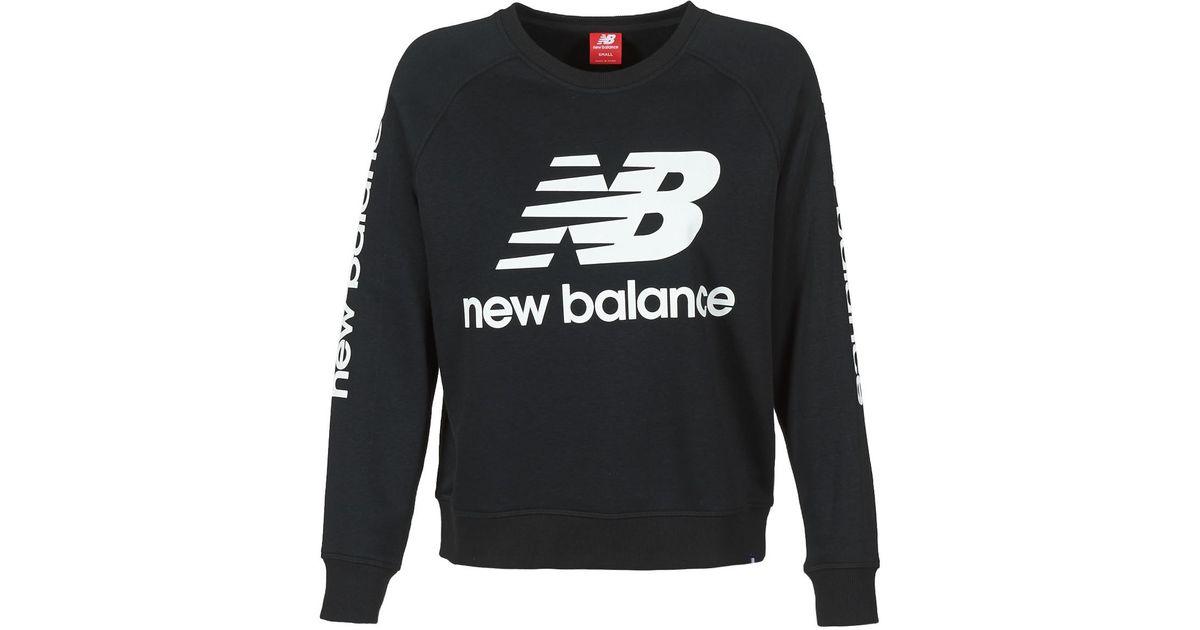 New Balance Damen GRAPHIC SWEATER GREY Grau hat das