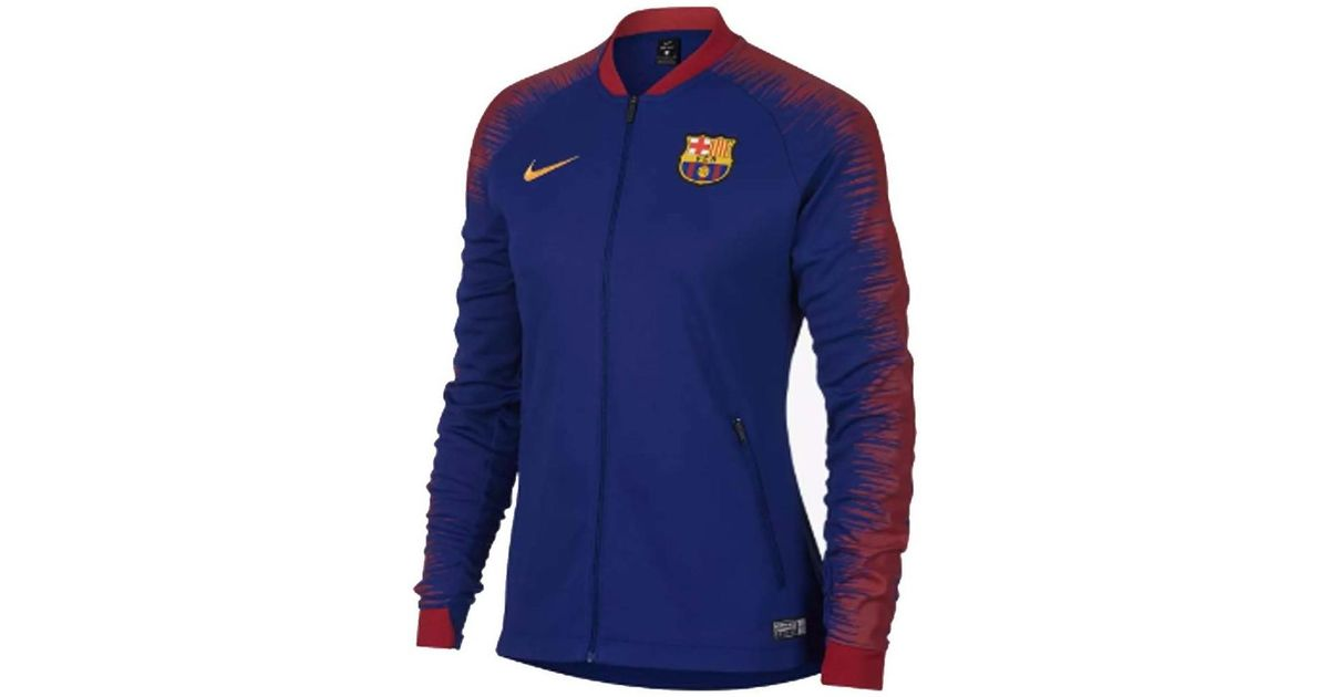 low cost e015d 29427 Nike 2018-2019 Barcelona Authentic Franchise Jacket - Womens Men's  Tracksuit Jacket In Blue for men
