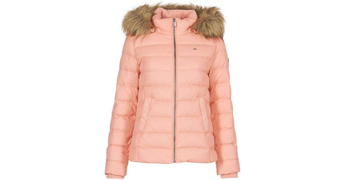 c87b882b9 Tommy Hilfiger - Tjw Essential Hooded Down Jacket Women's Jacket In Pink -  Lyst
