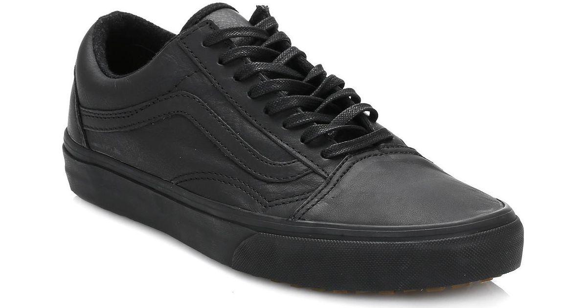 Vans Black Old Skool Mte Leather