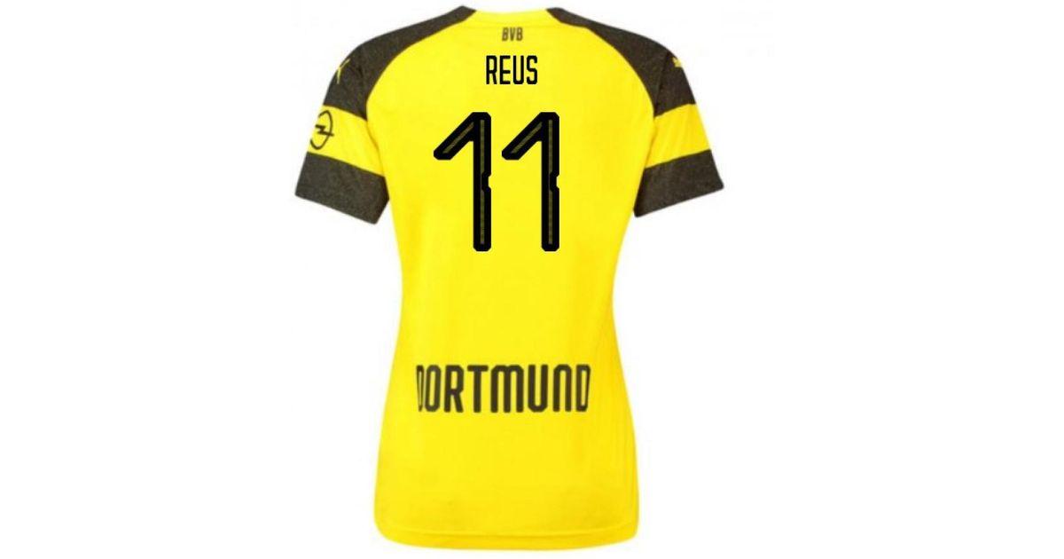 b03fd09f53809 PUMA 2018-2019 Borussia Dortmund Home Ladies Shirt (reus 11) Women's T  Shirt In Black