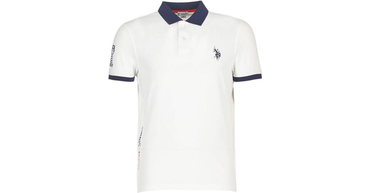 c02e22ec4c4 U.S. POLO ASSN. Uspa Sport Logo Men s Polo Shirt In White in White for Men  - Lyst
