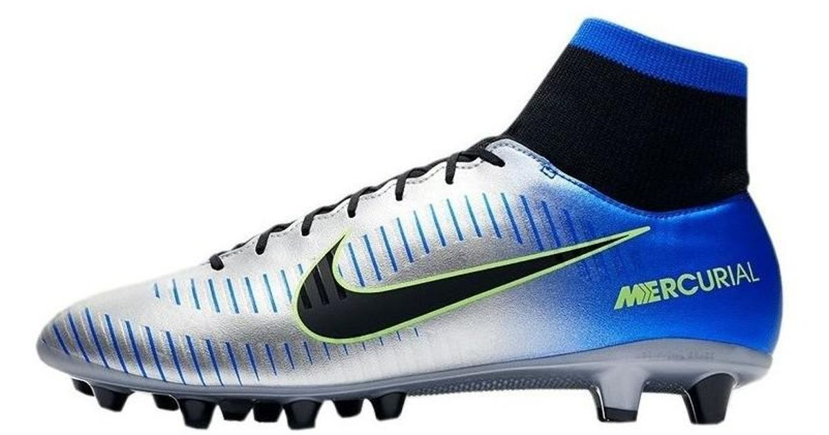 check out 308e8 10a70 Nike Metallic Mercurial Victory Vi Df Neymar Agpro Men's Football Boots In  Silver for men
