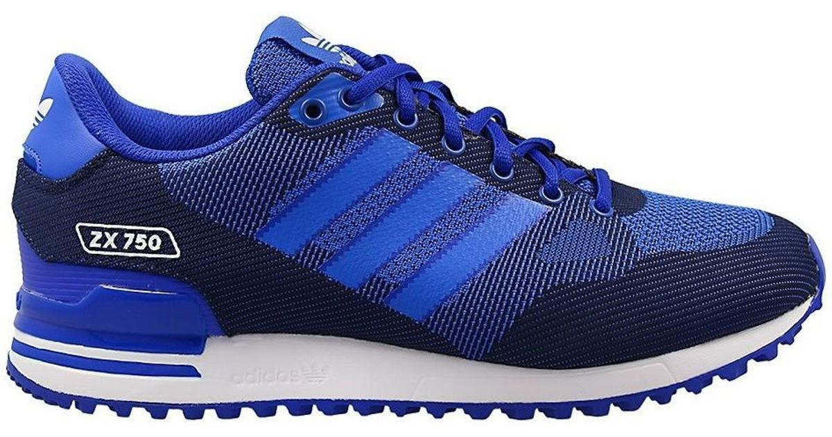 uk availability e4059 10804 Adidas Zx 750 Wv Men's Shoes (trainers) In Blue for men