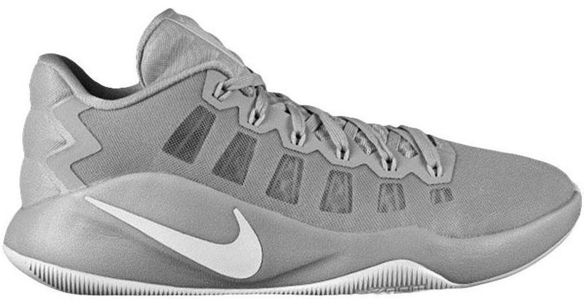 de8b078b2e4 Nike Hyperdunk 2016 Low Men s Shoes (high-top Trainers) In Grey in Gray for  Men - Lyst