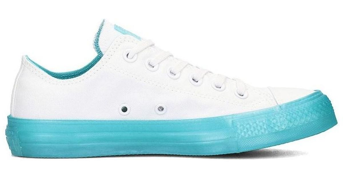 e0aa50648283 Converse Chuck Taylor All Star Aqua Ox Women s Shoes (trainers) In White in  White - Lyst