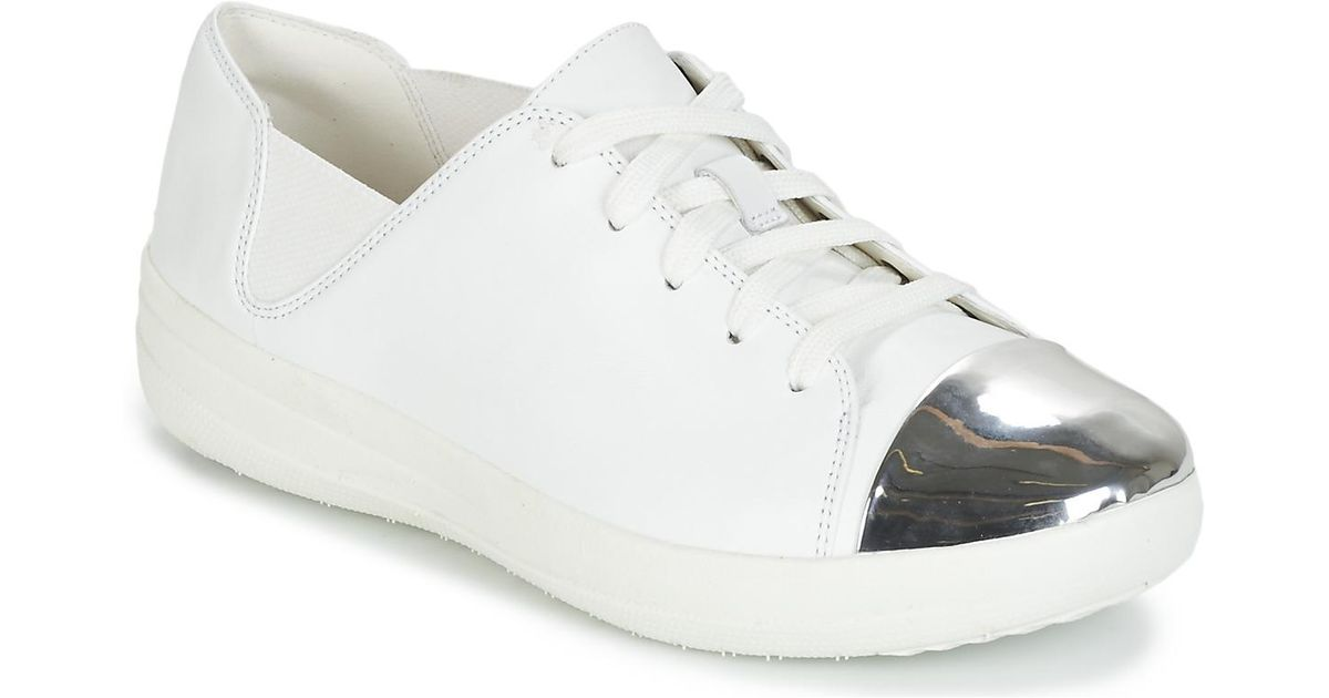 b1c91ca2a Fitflop F-sporty Mirror-toe Sneakers Women s Trainers In White in White -  Lyst