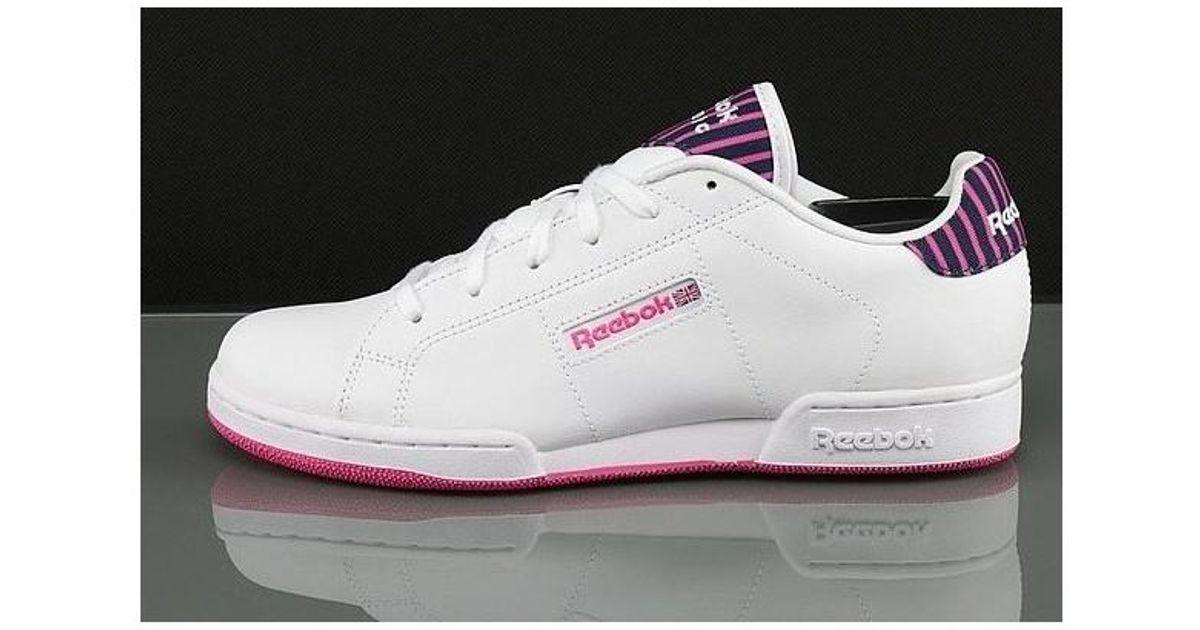514525676f6 Reebok Npc Ii Stripe Women s Shoes (trainers) In White in White - Lyst