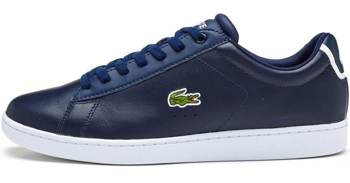 Lacoste Men/'s Carnaby Evo BL 1 SPM Leather Trainers White