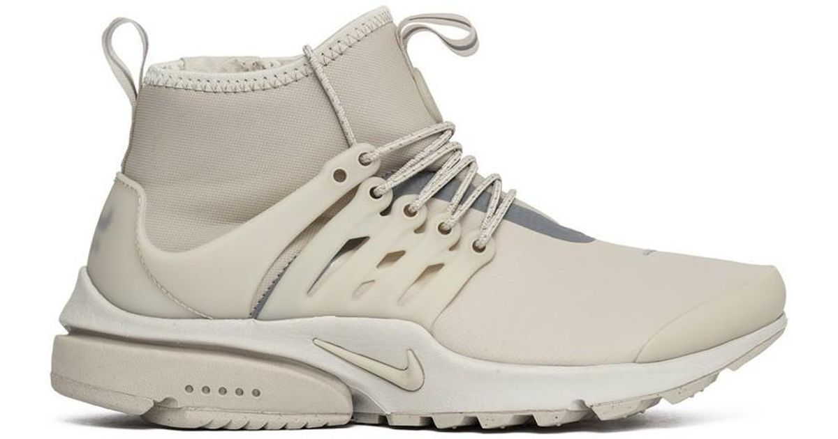 huge discount 06e19 f4911 Nike Natural Wmns Air Presto Mid Utility String Women's Shoes (high-top  Trainers) In Beige