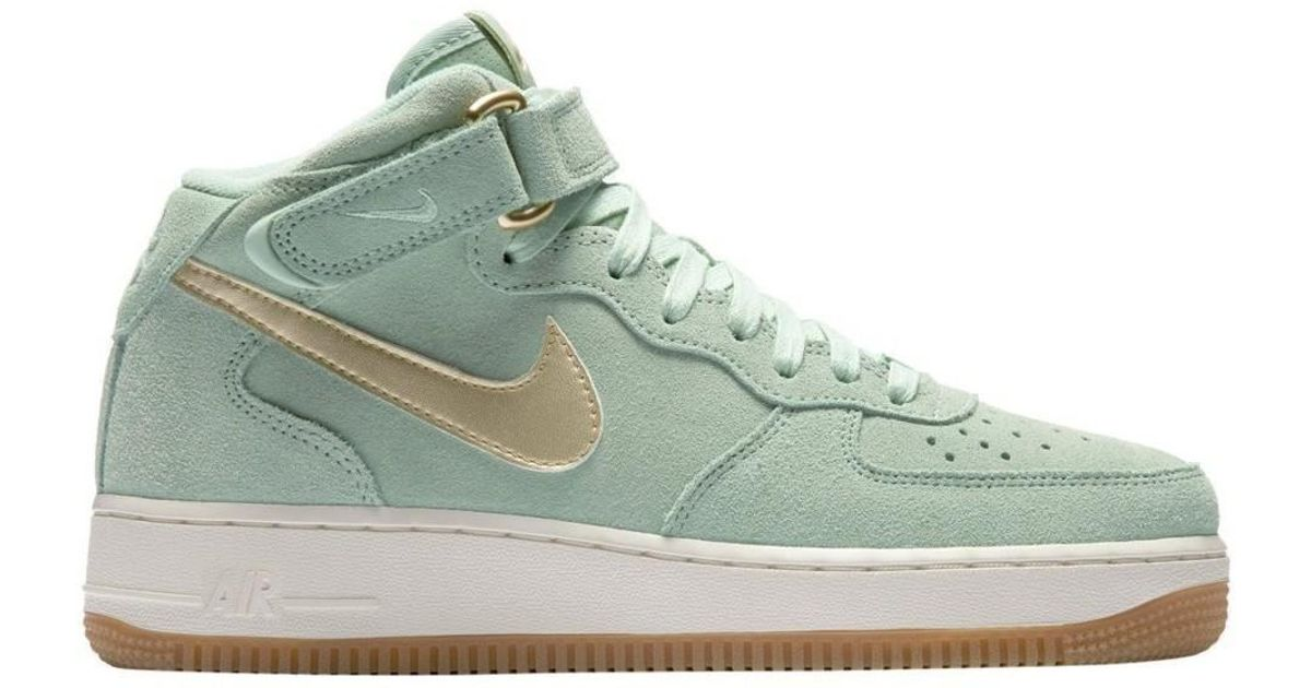 buy popular f2314 16898 Nike Wmns Air Force 1 07 Mid Seasonal Enamel Green Women s Shoes (high-top  Trainers) In Multicolour in Green - Lyst