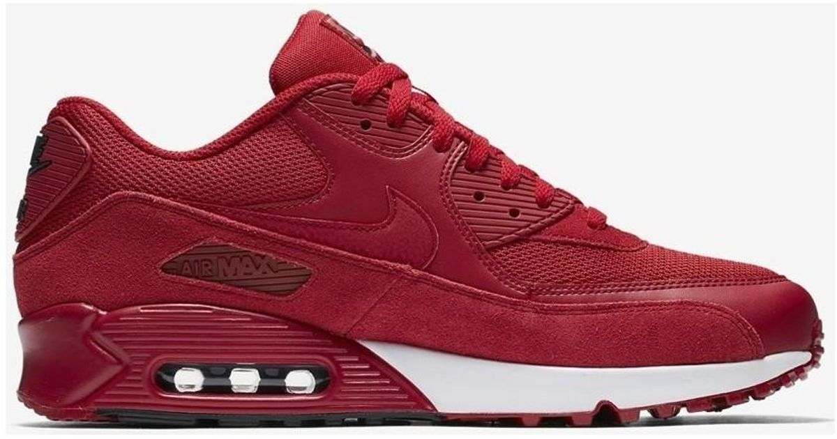 separation shoes 67caa 7f114 Nike Air Max 90 Essential 537384 604 Mens Shoes (trainers) In Red in Red  for Men - Lyst