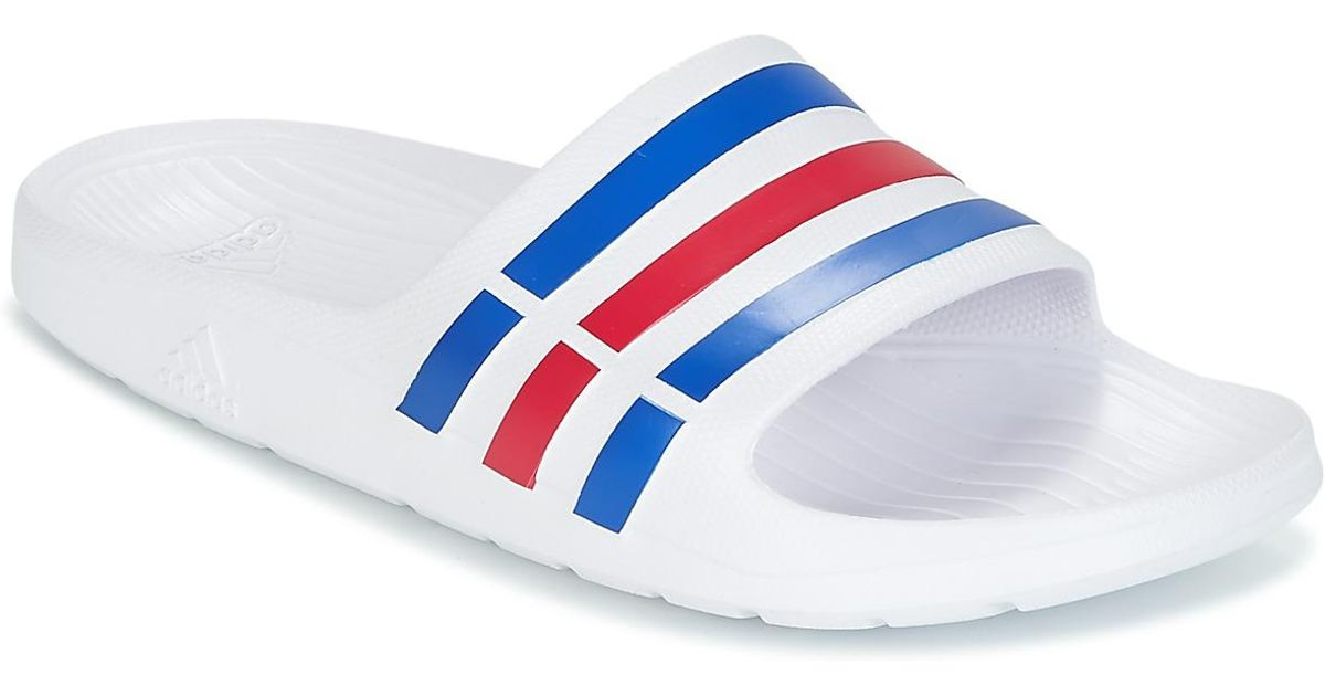 separation shoes d4e86 a9619 adidas Duramo Slide Tap-dancing in White for Men - Save 7% - Lyst
