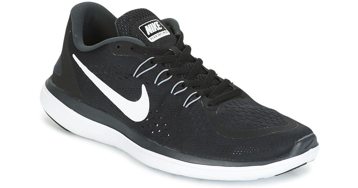 001b4f6295cd1 Nike Flex Run 2017 Men s Running Trainers In Black in Black for Men - Lyst