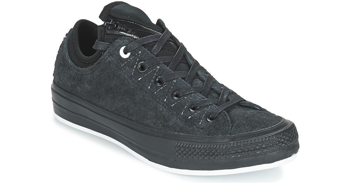 f787dd1151dea Converse Chuck Taylor All Star Ma-1 Se Hairy Suede Ox Men s Shoes (trainers)  In Black in Black for Men - Lyst