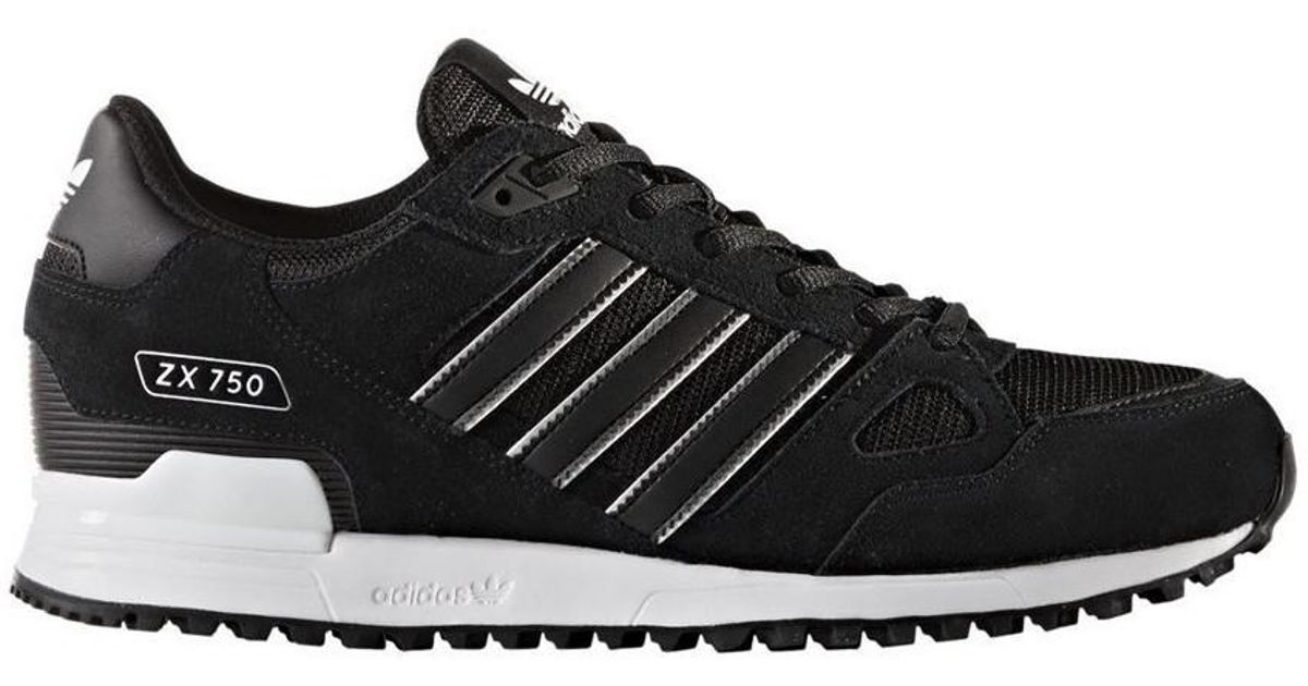 sports shoes 9ce12 c1994 Adidas Zx 750 Men's Shoes (trainers) In Black for men