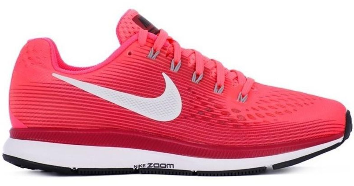 sneakers for cheap 18e7c c59c8 Nike Zoom Pegasus 34 W Women's Running Trainers In Red