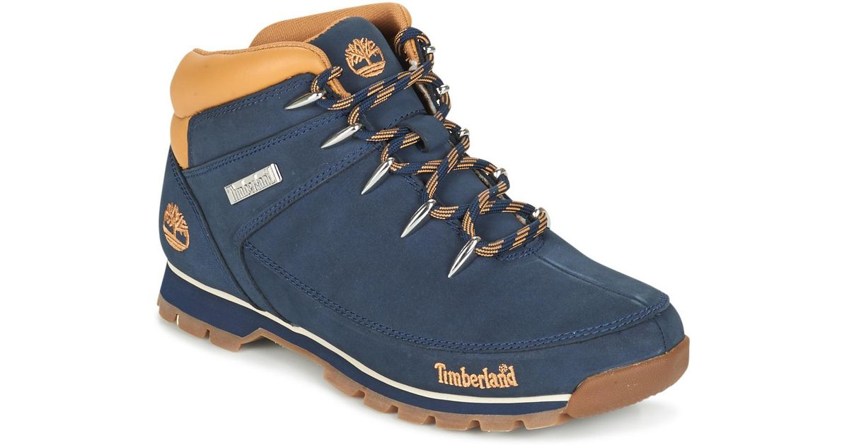 57dc2b25c8f Timberland Euro Sprint Hiker Men's Mid Boots In Blue for men