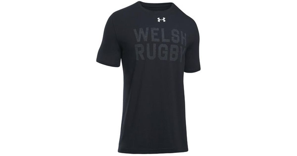 cd6b2b149e2 Under Armour 2018-2019 Wales Rugby Wru Graphic Tee Women's T Shirt In Black  in Black for Men - Lyst