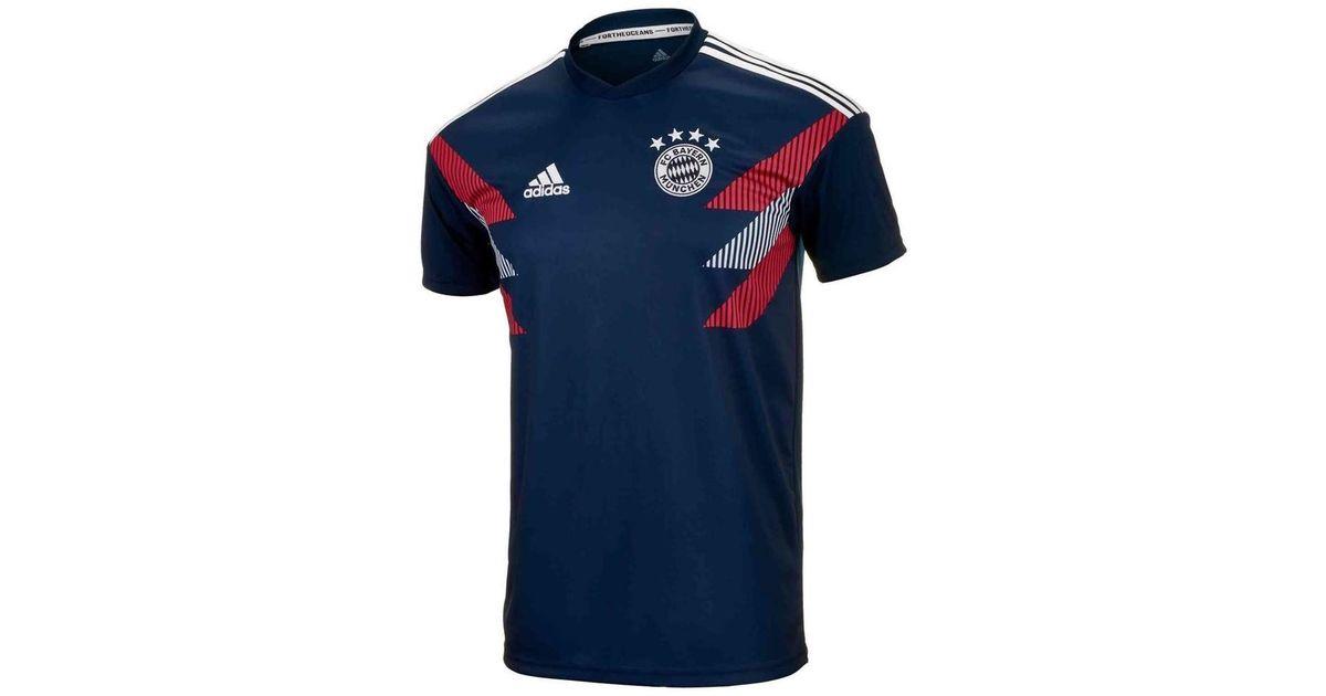 aa02df5526dec Adidas 2018-2019 Bayern Munich Pre-match Training Shirt - Kids Men's T  Shirt In Blue for men
