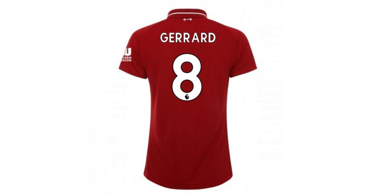 best service 981b8 cba27 New Balance 2018-2019 Liverpool Home Ladies Football Shirt (gerrard 8)  Men's T Shirt In Red for men