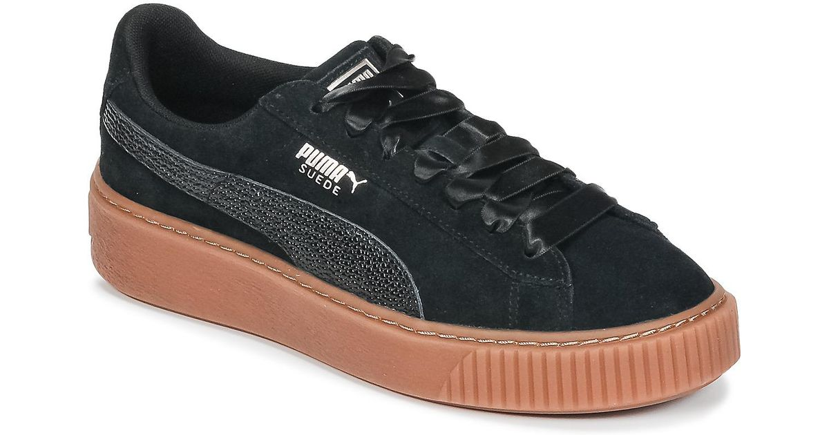 cheap for discount 4888e 40992 PUMA Suede Platform Bubble W s Women s Shoes (trainers) In Black in Black -  Lyst