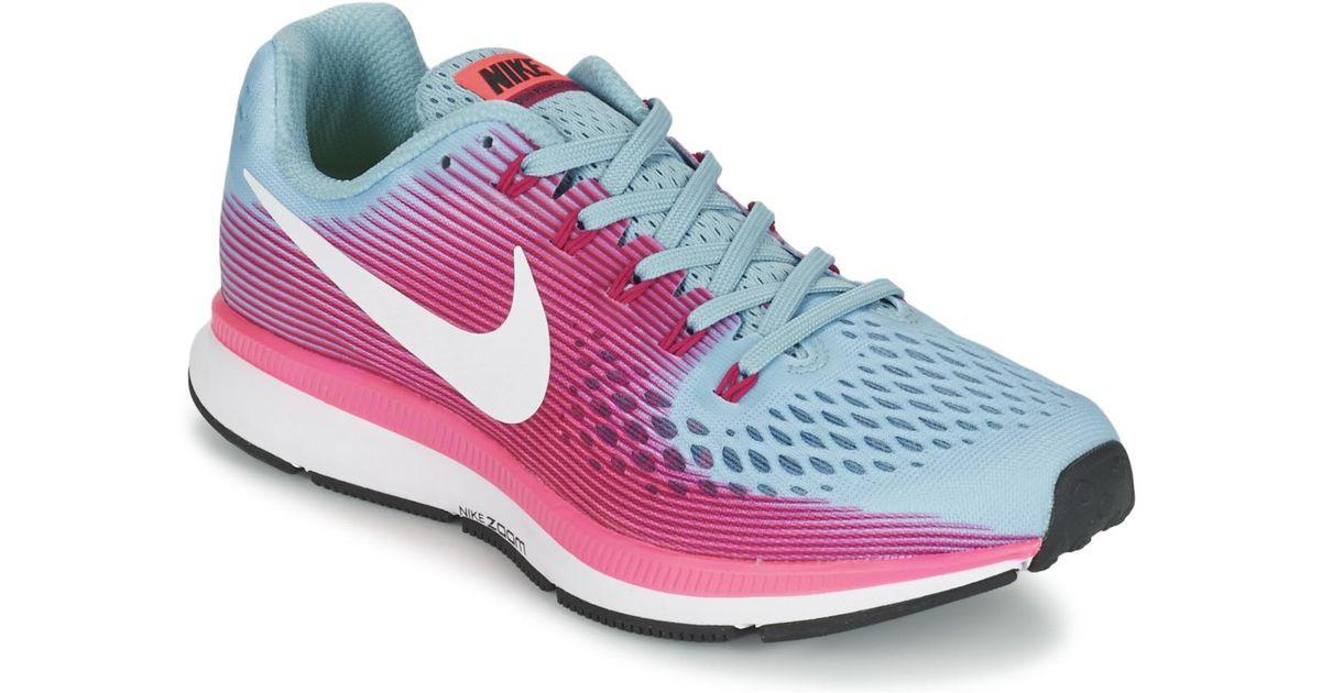 Pegasus Zoom 34 Air Trainers Blue Nike In Women's Running EH2WID9